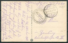 1915 Belgium Germany Dixmunde Postcard Kaiser Deusche Feldpost Marine - Belgium