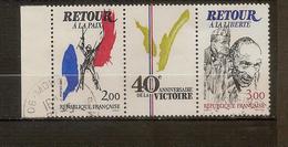 Triptyque 40ème Anniversaire De La Victoire N°2368 Et 2369 - Oblitérés