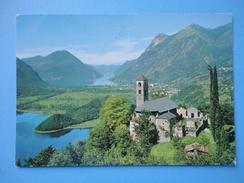 Gottro - Carlazzo - Como - Chiesa Di S. Giorgio E Veduta Dei Laghi Del Piano E Di Lugano - Como