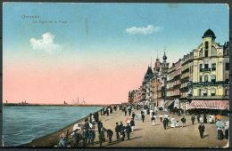 1917 Belgium Germany Ostende Postcard K.D. Feldpost Marine Bucherie