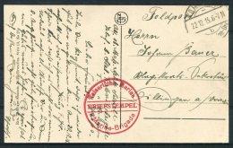 1915 Belgium Germany Ostende Royal Palace Hotel Postcard K.D. Feldpost 2 Marine Brigade