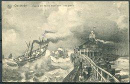 1917 Belgium Germany Ostende Postcard K.D. Feldpost Marine
