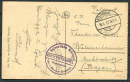1917 Belgium Germany Zeebrugge Postcard K.D. Feldpost 1 Marine Division Kommando