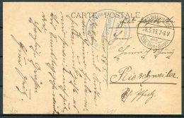 1917 Belgium Germany Ypres Postcard K.D. Feldpost 22 Reserve Korps, Marine 8th Seebatallon