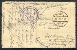 1918 Belgium Germany Postcard Deutsche Feldpost Marinekorps