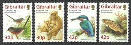 GIBRALTAR 1999 EUROPA BIRDS KINGFISHER WARBLER WILDLIFE MONEY FISH SET MNH