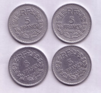 Lot N° 103 Lot De 4 Pièces De 5 Francs 1945(x2),1947 Et 1949 - J. 5 Francs