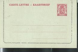 Carte-Lettre Neuve N° 29. I. FN. 1 F Rouge Sur Vert D'eau - Postwaardestukken