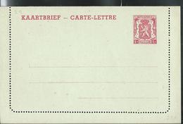 Carte-Lettre Neuve N° 29. II. NF.. 1 F Rouge Sur Vert D'eau - Postwaardestukken