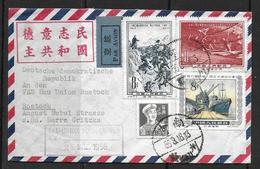 China  Bedarfsbrief Von 1956 Mit Mi 286 - 287 Und Mi 292