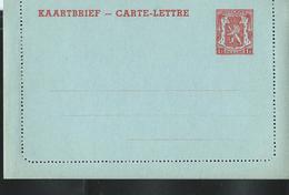Carte-Lettre Neuve N° 28. II. NF.. 1 F Rouge Sur Bleu - Postwaardestukken