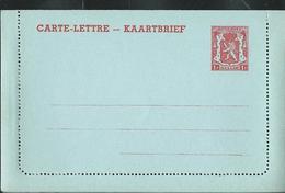 Carte-Lettre Neuve N° 28. I. FN. 1 F Rouge Sur Bleu - Postwaardestukken