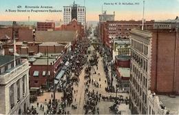 SPOKANE  -  WASHINGTON  -  RIVERSADE AVENUE A BUSY STREET IN PROGRESSIVE SPOKANE  - - Spokane