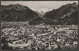 Mönch & Jungfrau, Interlaken Unterseen, Switzerland, C.1940 - Gabler RP Postcard - BE Berne