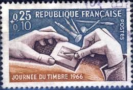 1477  Journée Du TIMBRE   OBLITERE ANNEE 1966 - Usati