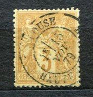 2723  - FRANCE  N°86 °  3c  Bistre-jaune    Type Sage    C.18  Toulouse  Du 15 NOV.79    TB
