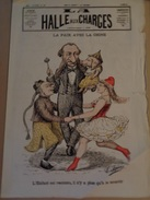 LA HALLE AUX CHARGES.1884.-n°120.troisième Année.13 Mai.première De Couverture Déchirée. - Journaux - Quotidiens