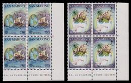 (036) San Marino  1992 / Europa / America / Columbus / Ships / Voiliers / Schiffe / Bl Of 4 ** / Mnh  Michel 1508-09