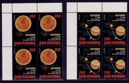 (037) San Marino  1994 / Europa / Space / Discoveries / Raumforschung / Bl Of 4 ** / Mnh  Michel 1575-76