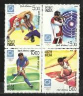 INDIA, 2004, 28th Olympics, Athens, Setenant Set, 4 V, MNH, (**) - Summer 2004: Athens - Paralympic