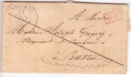 CORSE Jolie Petite Lettre Avec Correspondance De Sartène En Port-payé Pour Bastia 1835