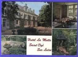 """Carte Postale 41. Saint-Dye-sur-Loire  Hotel-Restaurant """"La Motte""""   Trés Beau Plan - France"""
