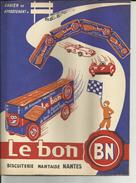 Protège Cahiers - 44 - Nantes - Le Bon B.N. Biscuits - Circuit - Voiture - Course - 2 Scanns -  - Réf . 18 - - Alimentaire