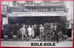 76 - CARTE PHOTO - ROUEN - CAFE DU CHATEAU D'EAU - DEVANTURE -  Restaurant - - Rouen