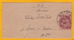 1928 - Bande Entier 2 Centimes Type Blanc Et  Journal  Petit Echo De L'USIC, Ingénieurs - De Paris Vers Trie Sur Baïse - 1900-29 Blanc