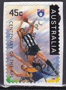 Australia, 1996 - 45c Colingwood Magpies, Su Frammento - Nr.1501 Usato°