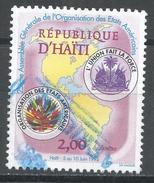 Haiti 1995. Scott #862 (U) Emblems, Map Of North And South America * - Haïti