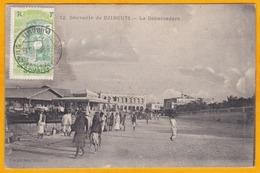 1916 - CP De Djibouti Vers L' Indochine (Saigon Puis Redirigée Vers Hanoi) - Vue Débarcadère De Djibouti - Lettres & Documents