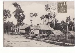 Cambodge - Souvenir Des Ruines D'Angkor / Editions Planté N°133 / Timbre Et Caché Des Colonies 1906 - Kambodscha