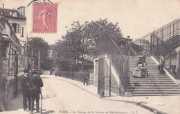 LE   PASSAGE DE LA STATION DE MENILMONTANT - Arrondissement: 20