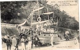 MACON FETES DES 29 30 ET 31 MAI 1909 LES PIRATES CHAR DES REGATES MACONNAISES - Macon