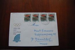 A268 DEUTSCHLAND DDR GDR - Großpostwitz 8603 => Düsseldorf 4000 MeF Spiele Der XXIV. Olympiade 1988 - [6] République Démocratique