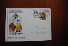 BR011 DEUTSCHLAND BUNDESREPUBLIK - 432 Hattingen 3.1.1971=> 4300 Essen EF Junge Briefmarkenfreunde Hattingen