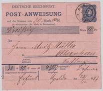 DR, 1887, Postanweisung, Bedarf , #8235