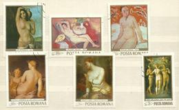 """Rumänien 2755-2760 """"6 Briefmarken Zum Thema: Aktgemälde """" Gestempelt, Mi. 4,00 - Oblitérés"""