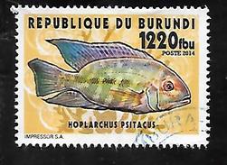 TIMBRE OBLITERE DU  BURUNDI DE 2014