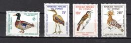 CONGO Oiseaux N° PA 239 à 242 Neufs** MNH Cote 4€