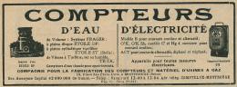Ancienne Publicite (1925) : COMPTEUR D'EAU ET D'ELECTRICITE, Montrouge - Publicités