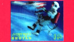 Nuovo - MNH - BHUTAN - 1967 - Esplorazione Dello Spazio - Luna - Astronauti - 3 - Tridimensionale -  3 D - Bhutan