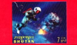 Nuovo - MNH - BHUTAN - 1967 - Esplorazione Dello Spazio - Luna - Astronauti - 7 - Tridimensionale -  3 D - Bhutan