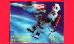 Nuovo - MNH - BHUTAN - 1967 - Esplorazione Dello Spazio - Luna - Astronauti - 15 - Tridimensionale -  3 D - Bhutan