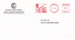 France-75 Paris-30/5/1986-ESA-Lanceur Lourd Européen ARIANE - Lettres & Documents
