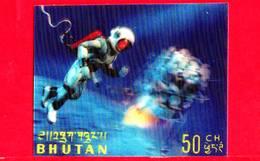 Nuovo - MNH - BHUTAN - 1967 - Esplorazione Dello Spazio - Luna - Astronauti - 50 - Tridimensionale -  3 D - Bhutan