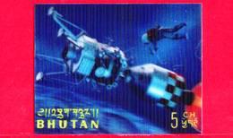 Nuovo - MNH - BHUTAN - 1967 - Esplorazione Dello Spazio - Luna - Astronauti - Navicelle - 5 - Tridimensionale -  3 D - Bhutan