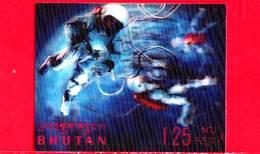 Nuovo - MNH - BHUTAN - 1967 - Esplorazione Dello Spazio - Luna - Space Walk - 1.25 - Tridimensionale -  3 D - Bhutan