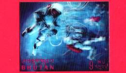 Nuovo - MNH - BHUTAN - 1967 - Esplorazione Dello Spazio - Luna - Space Walk - 9 - Tridimensionale -  3 D - Bhutan